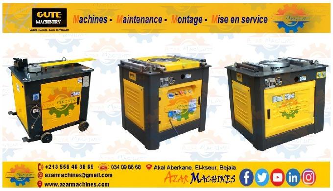 Azar Machines vous propose des équipements du façonnage et redressage et coupage du fer à béton, nos...