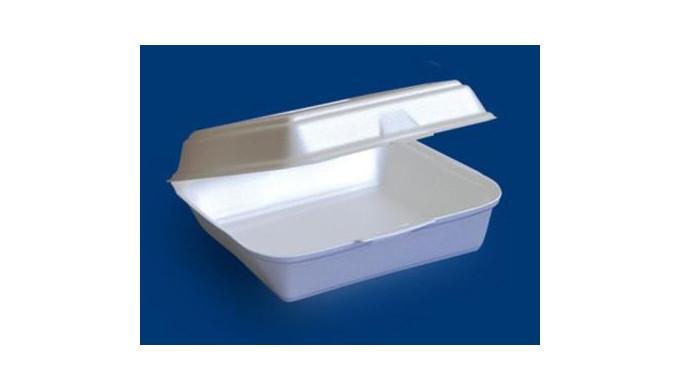 Контейнер пластиковый пищевой из пенополистирола EPS.