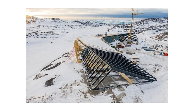 Cembrit,  Klimaskærm beskytter Ilulissat  Isfjordcenter, Grønland