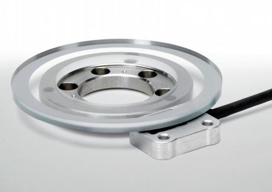Die Winkelmessgeräte ohne Eigenlagerung (Einbau-Winkelmessgeräte) sind zum Einbau in Maschinenelemen...
