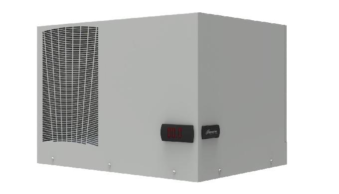 Condizionatore da tetto per armadi elettrici. Grazie alla nuova gestione del flusso d'aria ambiente,...