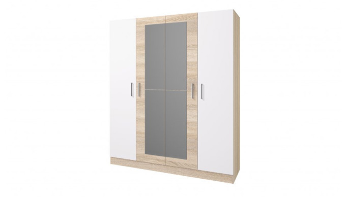 Šatní skříně Lesí v moderním skandinávském stylu májí 4 dvířka a jsou vyrobeny z kvalitního laminátu...