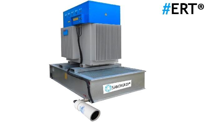 ERT® Bac coupe feu pour transformateur à huile, conformité NFC13200, protection passive contre l'inc...