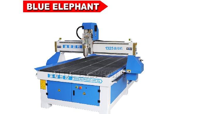 Elefante azul de madeira do router do cnc de 1325 3 Eixo da máquina de Corte para assinar e armário