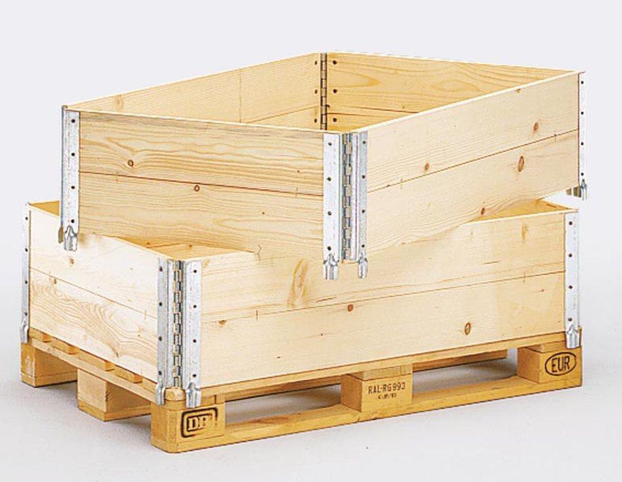 Holzaufsatzrahmen für Palette im Euroformat