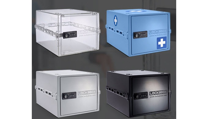 Compact and hygienic the Lockabox One is a unique lockable storage box combining security with every...