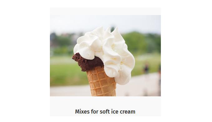 Ингридиенты для производства мороженого: Ванилин для производства мороженого Смеси для мягкого морож...