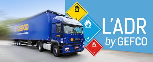 Service de transport de marchandises dangereuses* via réseau (messagerie et palettes) et transport d...