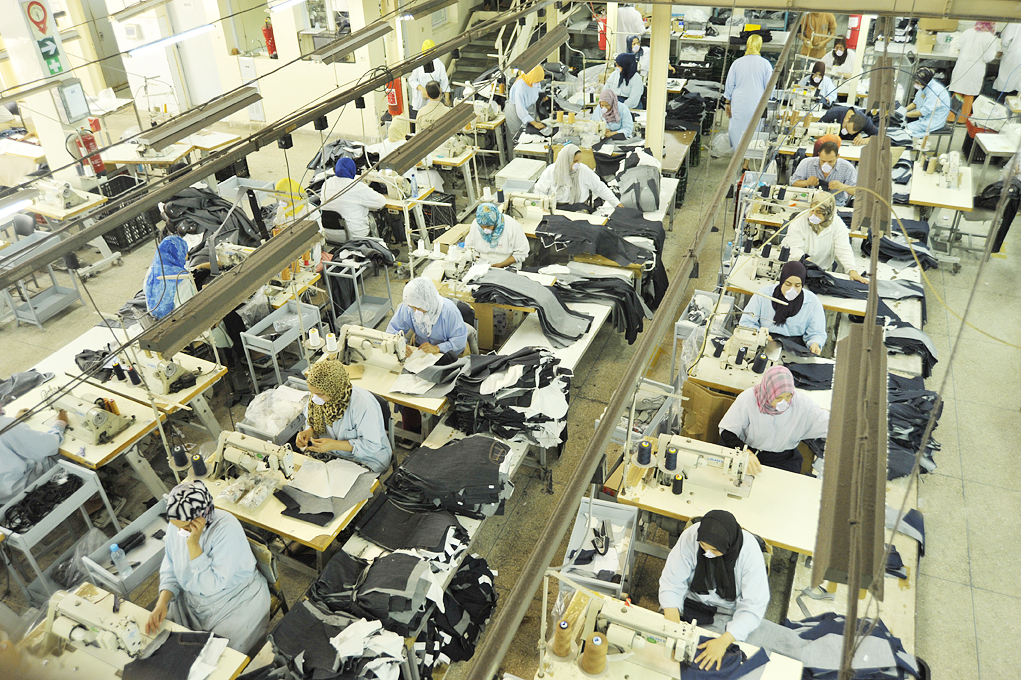Vêtements en jeans pour l'export