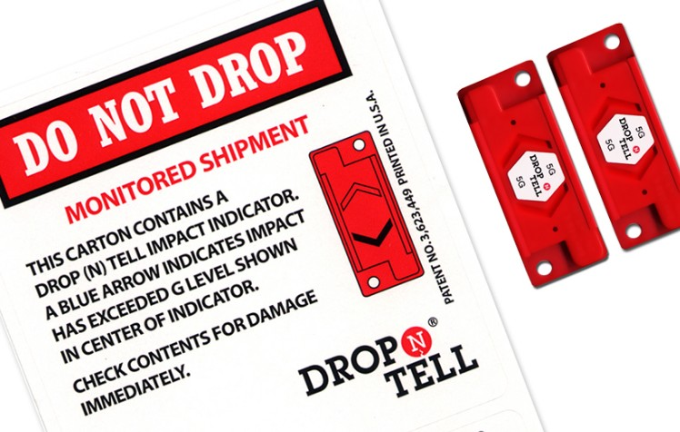 Drop N Tell labels are designed to record bad handling at the point of delivery. They record shocks ...
