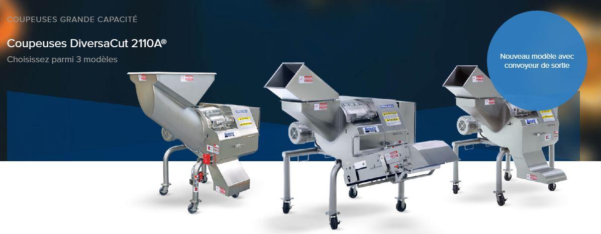 La coupeuse DiversaCut 2110A est disponible en trois modèles différents, des coupeuses de grande cap...