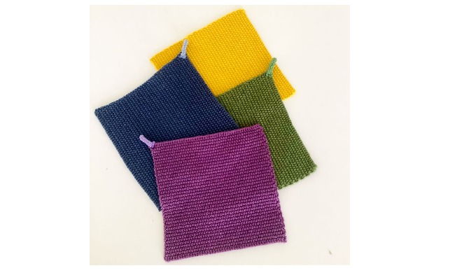 A pot-holder is a piece of textile used to cover the hand when holding hot kitchen cooking equipment...