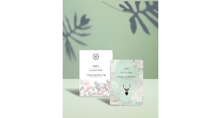 Toi:L x Catherine Muller Floral Hand Mask Box ver.   Body care products