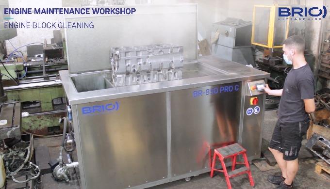 SERIE PRO - Limpieza por ultrasonidos para el mantenimiento de motores. Limpieza de bloque motor