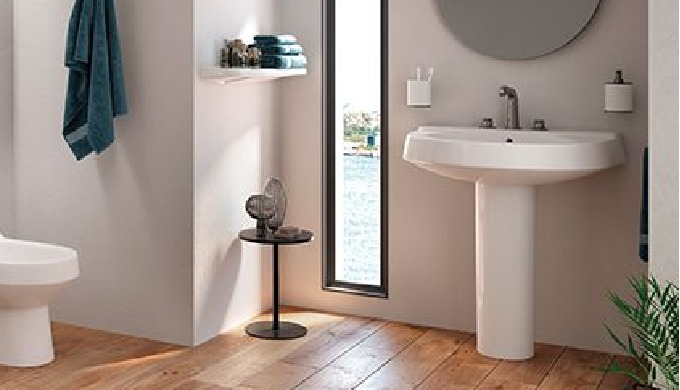 Model Name: TOPAZ Brand: Saudi Ceramics Wash basin with rounded edges which blends easily with most ...