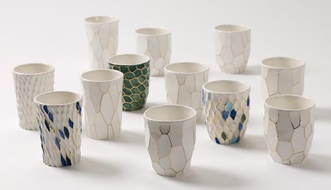 CeraSilver de cerámica de la taza (blanco)│vajilla│teaware│cocina