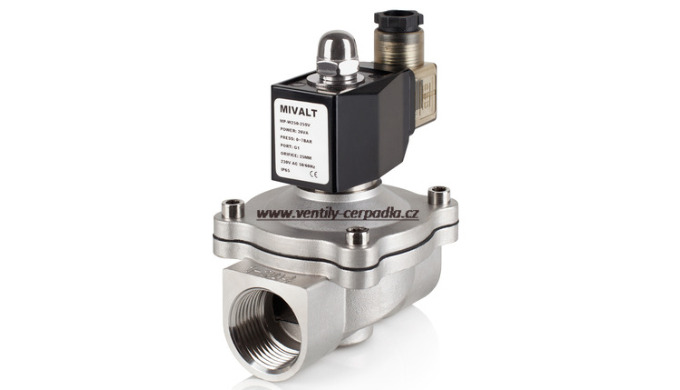 Directly and indirectly controlled solenoid valve