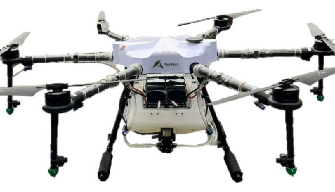 AGRIBOT(10L) is an advance agriculture drone approved by DGCA and tested by IARI, Ministry of Agricu...