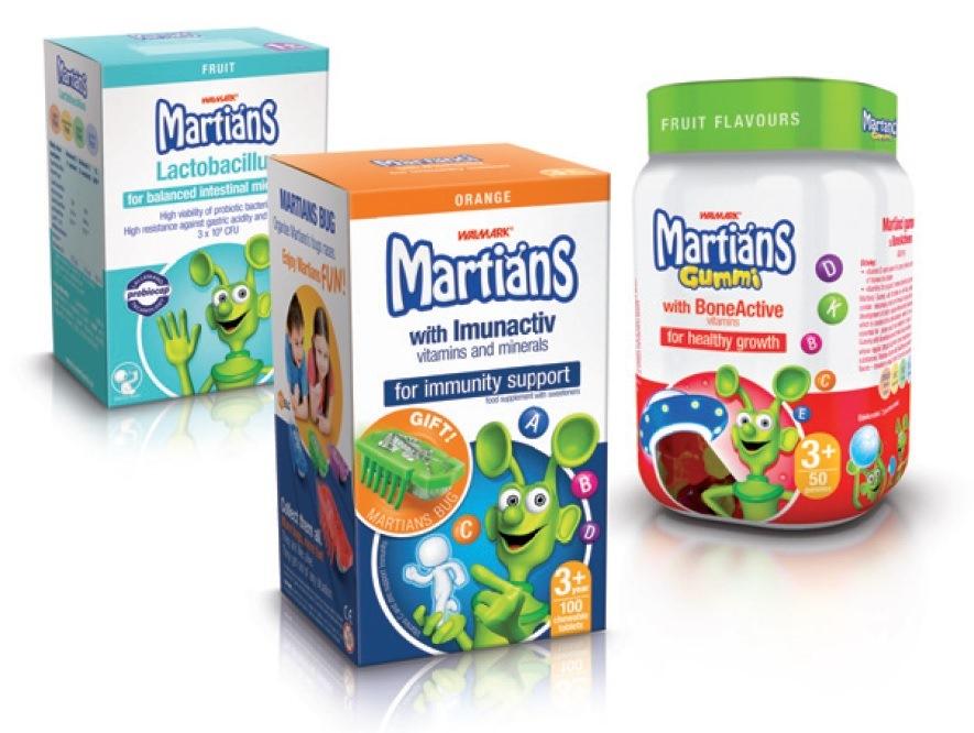 Marťánci - vitaminy a minerály pro děti s ovocnou příchutí