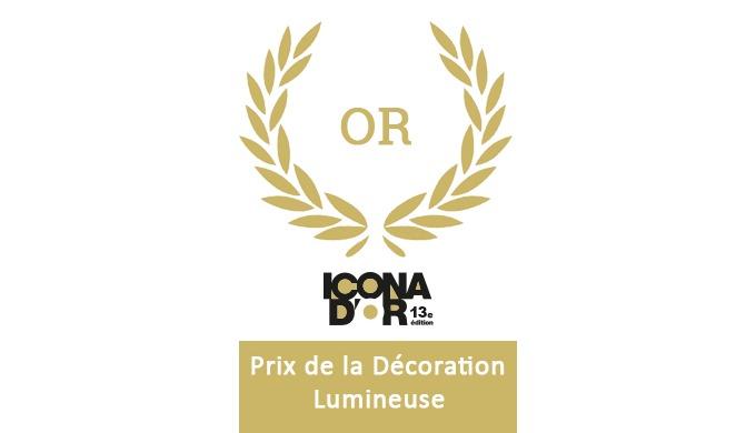 Actif Signal remporte 1 nouveau trophée Icona d'Or  de la décoration lumineuse