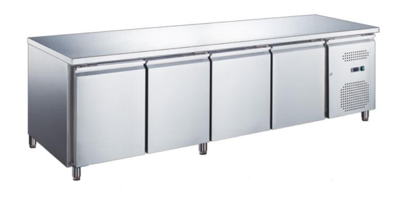 Masă frigorifică cu 4 uși și rebord | KH-GN4200TN