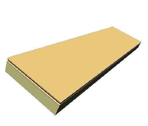 Plaque polyuréthane et fibre de bois 611 x 2511 x 155 mm