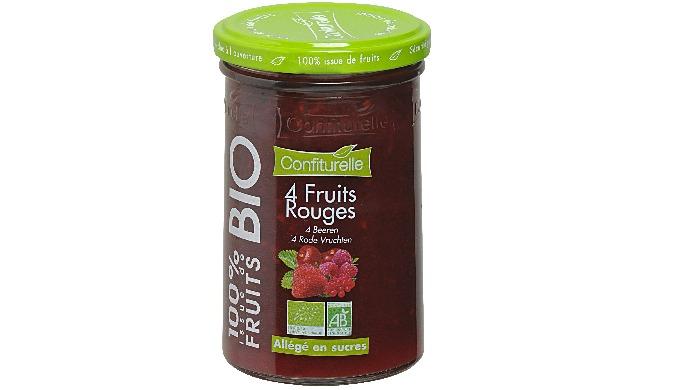 Confiture BIO 100% issue de fruits 4 Fruits Rouges 290g