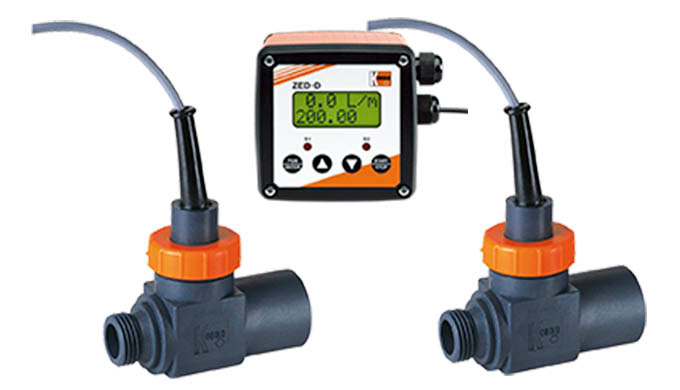 Messbereich: 2,0 - 40 l/min Wasser Anschluss: G ½ IG/AG, G ¾, ¾