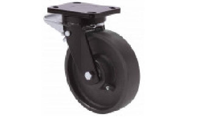 Ruedas de acero, indicada para soportar altas cargas hasta 1.350 Kg. TA: condiciones de trabajo muy ...
