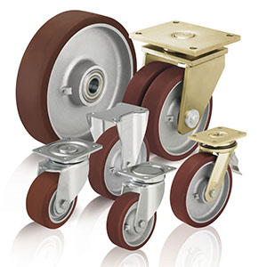 Heavy duty wheels and castors withcast polyurethane tread Blickle Besthane®