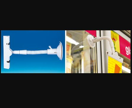 Maxi pince orientable base ventouse - Tige 140 mm