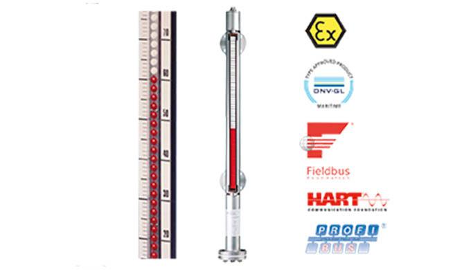 Messlänge: max. 5,5 m (darüber 2-teilig) Anschluss: DIN-Flansch DN15 ... DN50, ANSI-Flansch ½