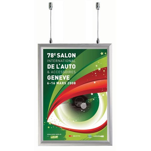 Un affichage efficace pour équiper votre vitrine !Cadre Clic-Clac double-face ouverture faciale, pro...