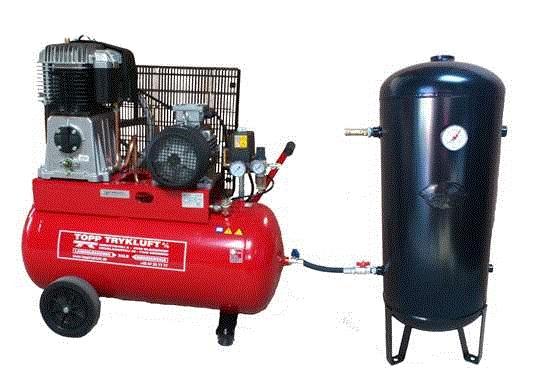 Håndværker 1,5 KW 9 bar Let industri 1,5-2,2 Let industri 3,0-7,5 kW 11 bar Lyddæmpede fra 40 dB Ind...