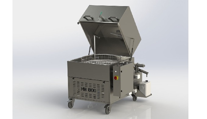 The mid-size degreasing machine from the economical series MH with a diameter basket of 800 mm. It h...