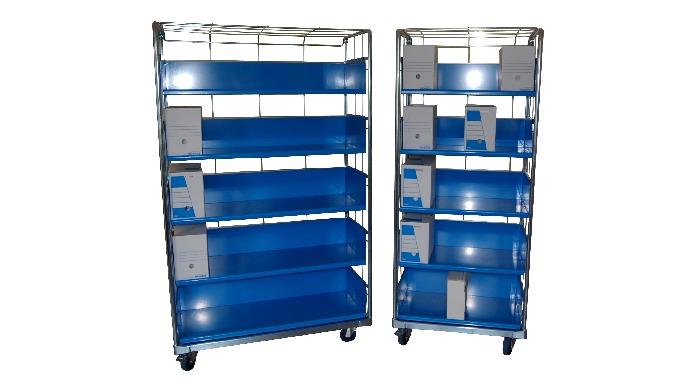 Chariot pour le stockage et le déplacement des boites archives Différents modèles : avec 3 - 4 ou 5 ...