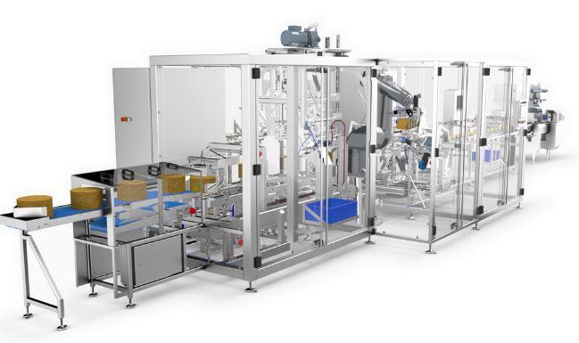 La ligne de découpe à poids fixe brevetée ERMA 70TR est conçue pour la découpe de fromage rond en po...