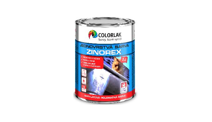 ZINOREX S 2211 akrylátová polomatná jednovrstvá barva na ocel a pozink