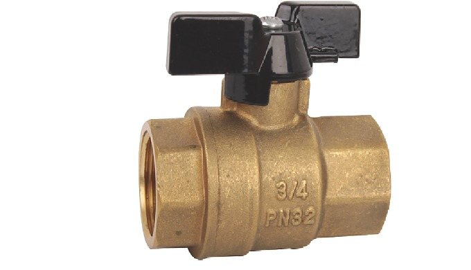 F00004 Ball Valves Tee Handle FF Brass