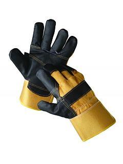 Ochrana rukou » rukavice kombinované » Rukavice ORIOLE černo - žluté