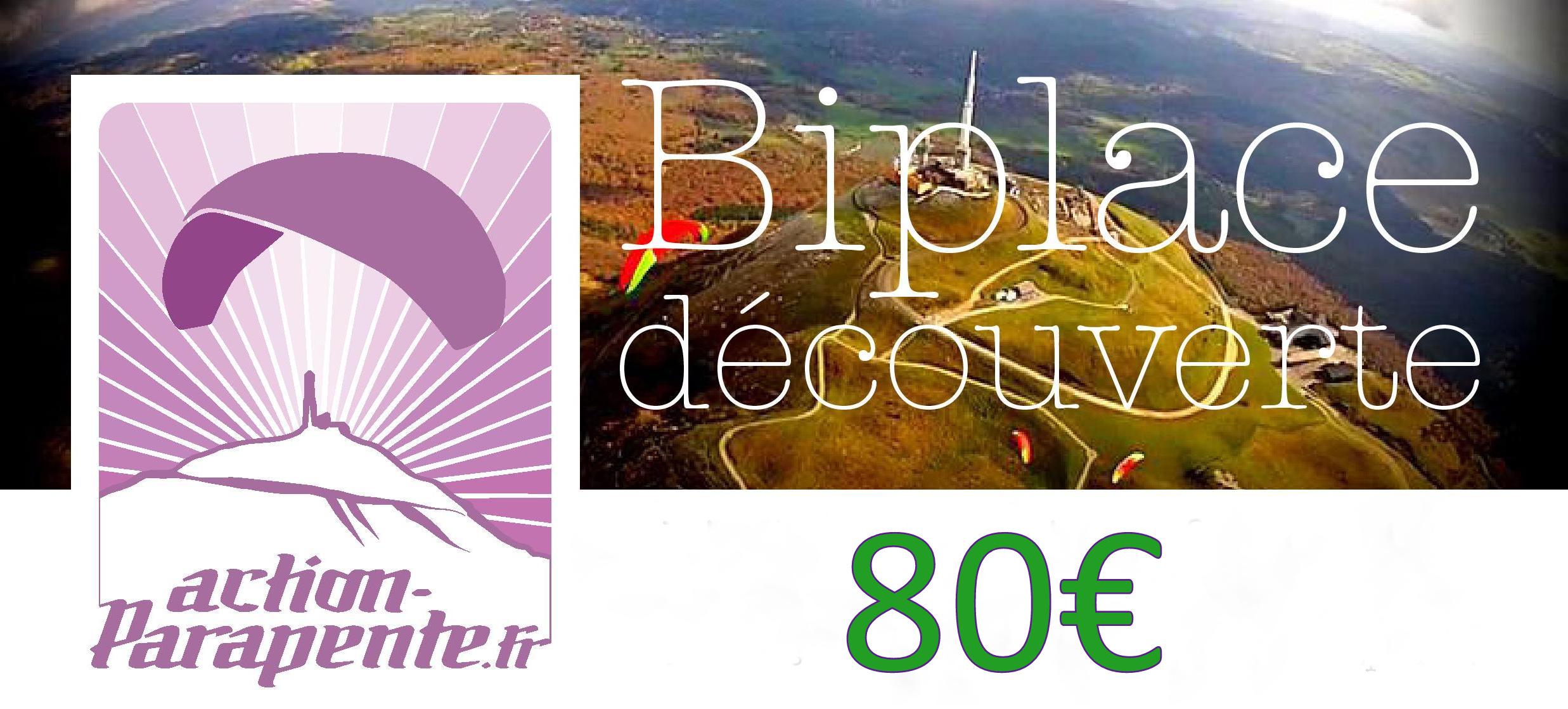 Vol biplace en parapente découverte dans le Puy-de-dôme.