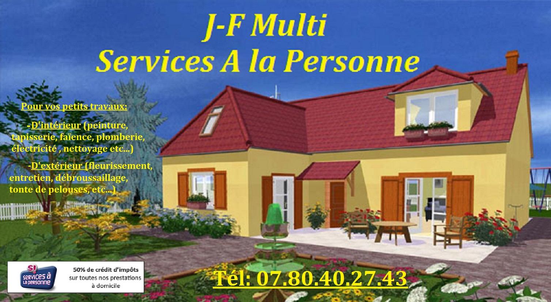 SERVICES A LA PERSONNE: petits travaux interieurs et exterieurs tapisserie, peinture, tonte de pelou...