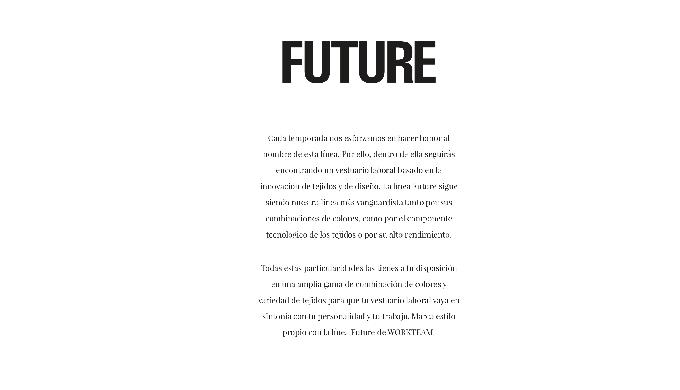 Nueva Colección Future WORKTEAM