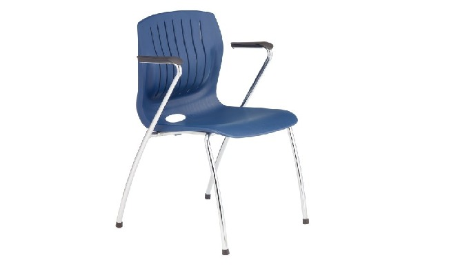TEC-06CA is TEC series stacking chair with armrest, with stylish shape, ergonomic 3-D backrest desig...