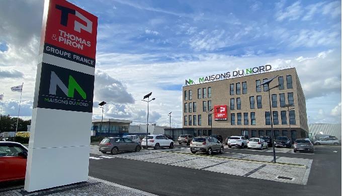 Actif Signal Lille réalise les enseignes et la signalétique du nouveau Siège de Maisons du Nord