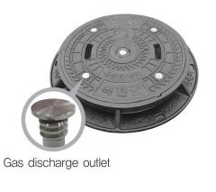 Gas pressure release manhole cover