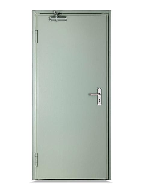 Porte de service métallique