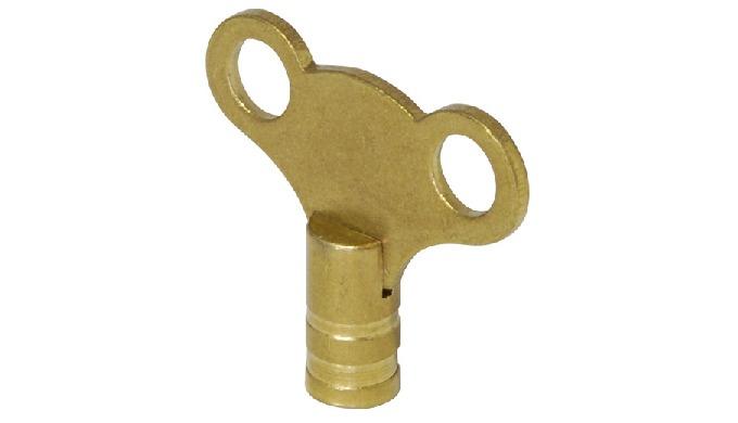 Brass Radiator Air Vent key - Clock Type