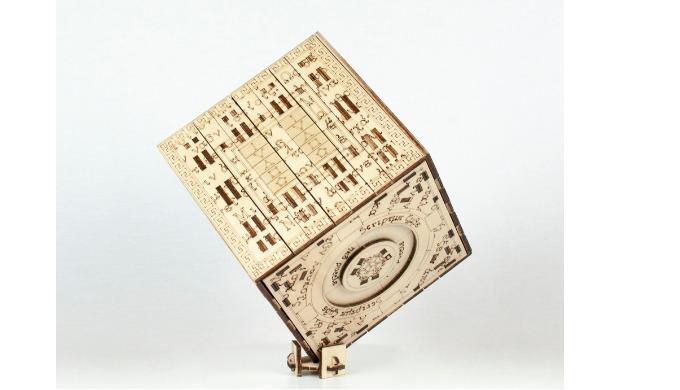 Mechanisches Puzzle aus Holz Scriptum Cube