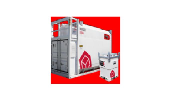Tanques de combustible de doble pared transportables diseñados para almacenamiento costa afuera.